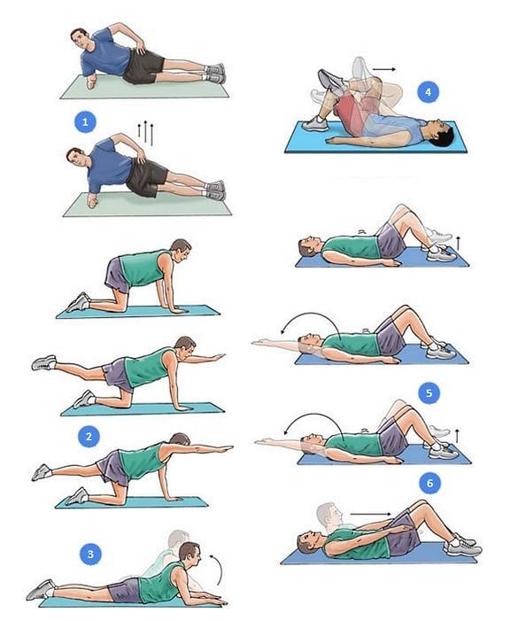 Еще несколько упражнений полезных при межпозвоночной грыже