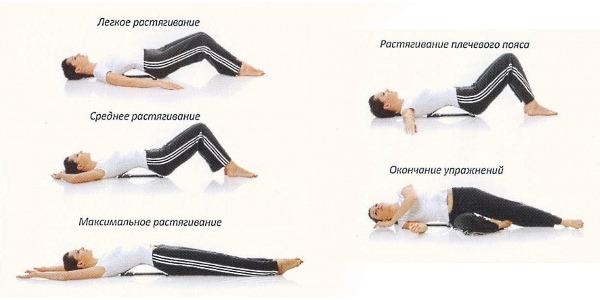 При сильных повреждениях спины выполняются общеукрепляющие упражнения