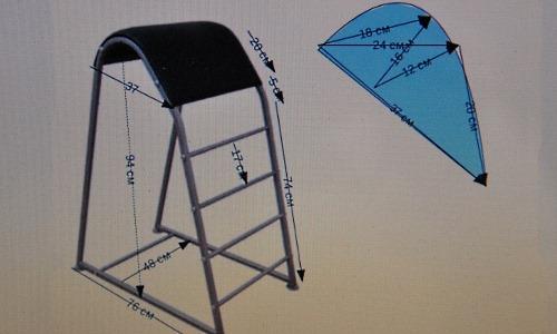 Тренажер горбунок - для выполнения упражнения необходимо подымать ноги в положение лежа на животе