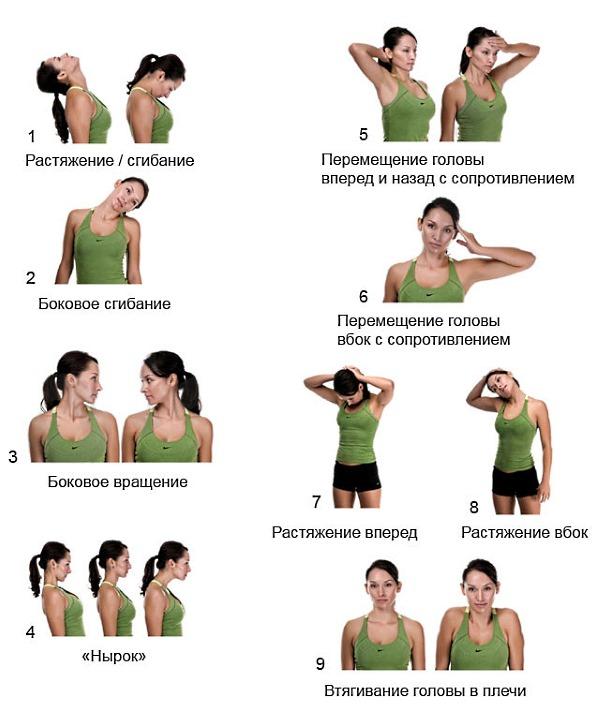 Несколько эффективных упражнений для шеи