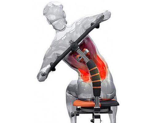 Для проработки поясничных мышц можно воспользоваться стулом Твистер