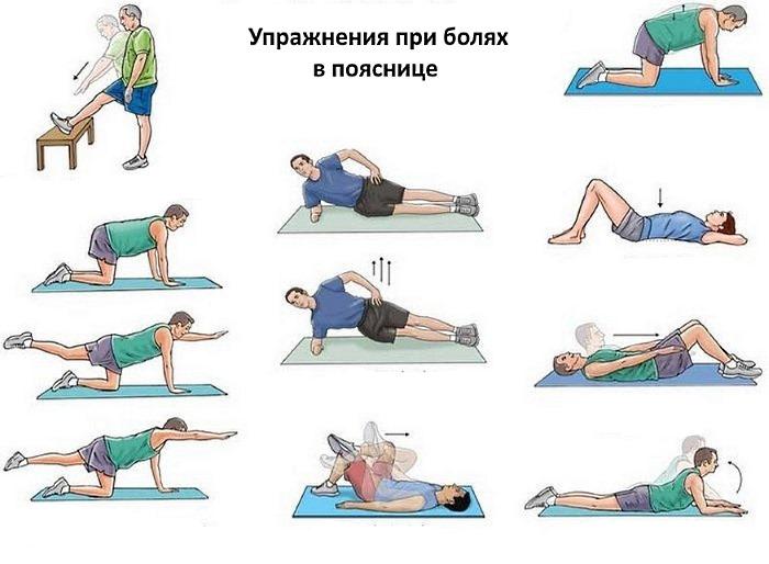 Еще несколько упражнений при болях в пояснице