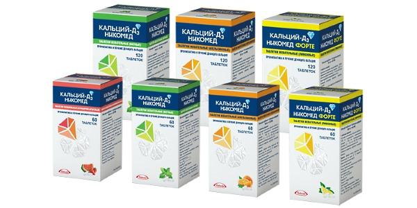 Кальций-Д3-Никомед содержит эффективное сочетание полезных веществ