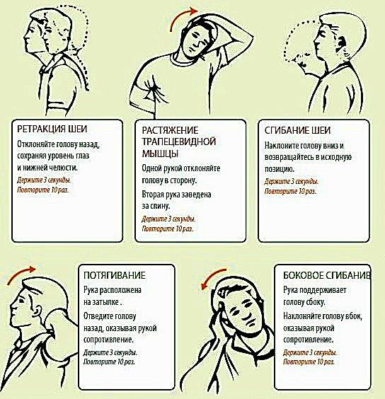 Еще несколько упражнений для укрепления шеи