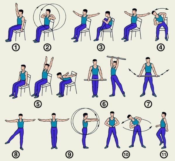 При спондилоартрите важно выполнять лечебную гимнастику ежедневно