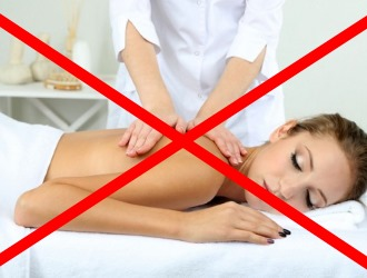 Обратите внимание на список противопоказаний к применению массажа спины