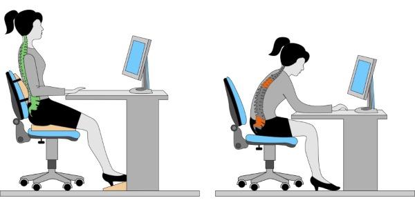 Обратите внимание как правильно сидеть на стуле